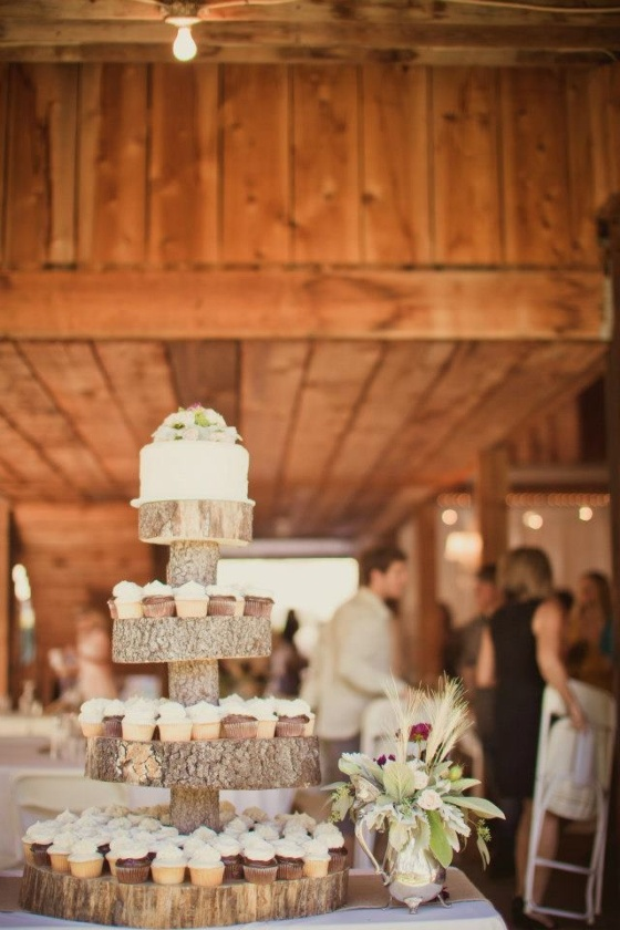 Cup cakes på träställ